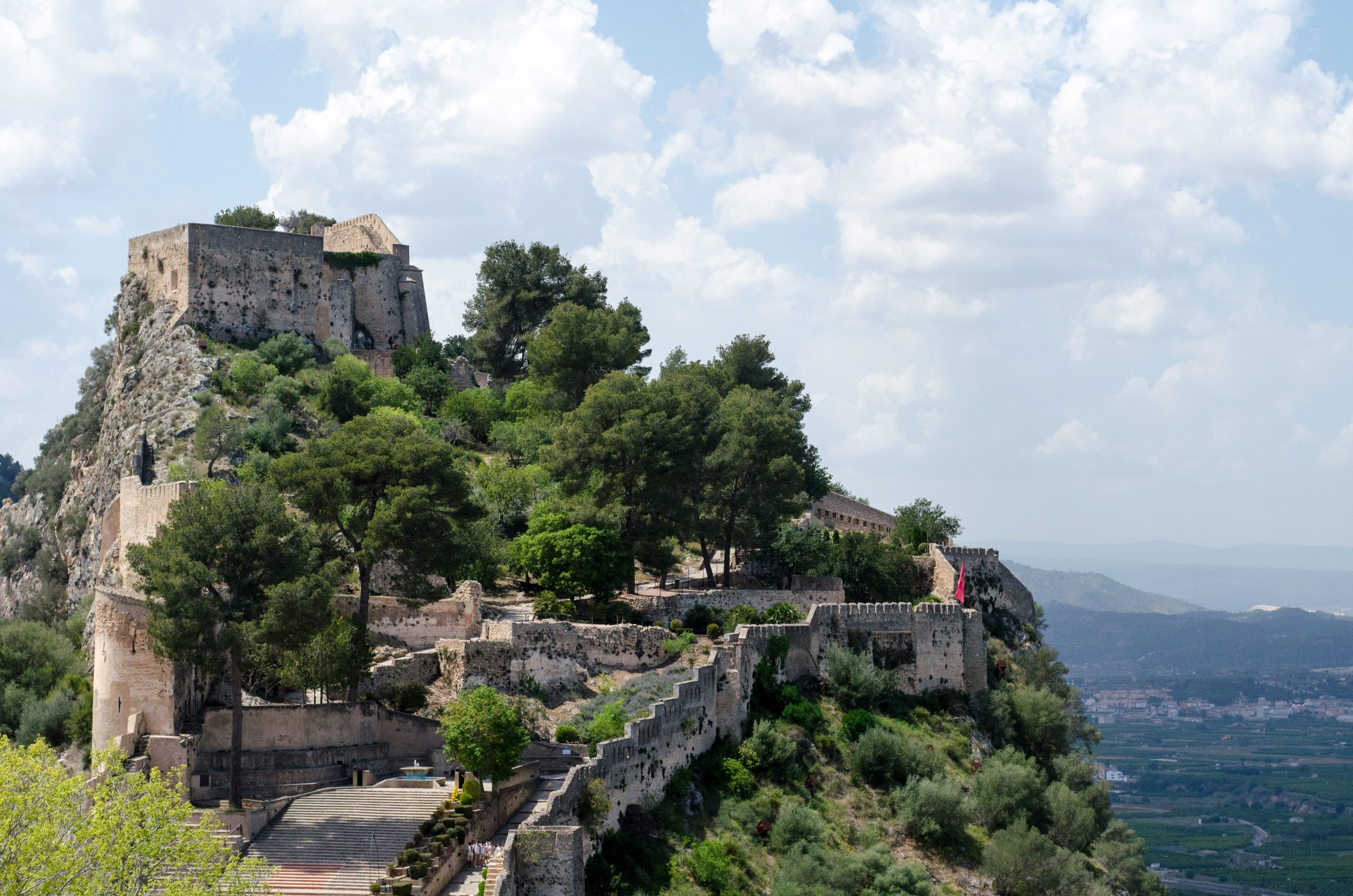Xativa mountaintop castle