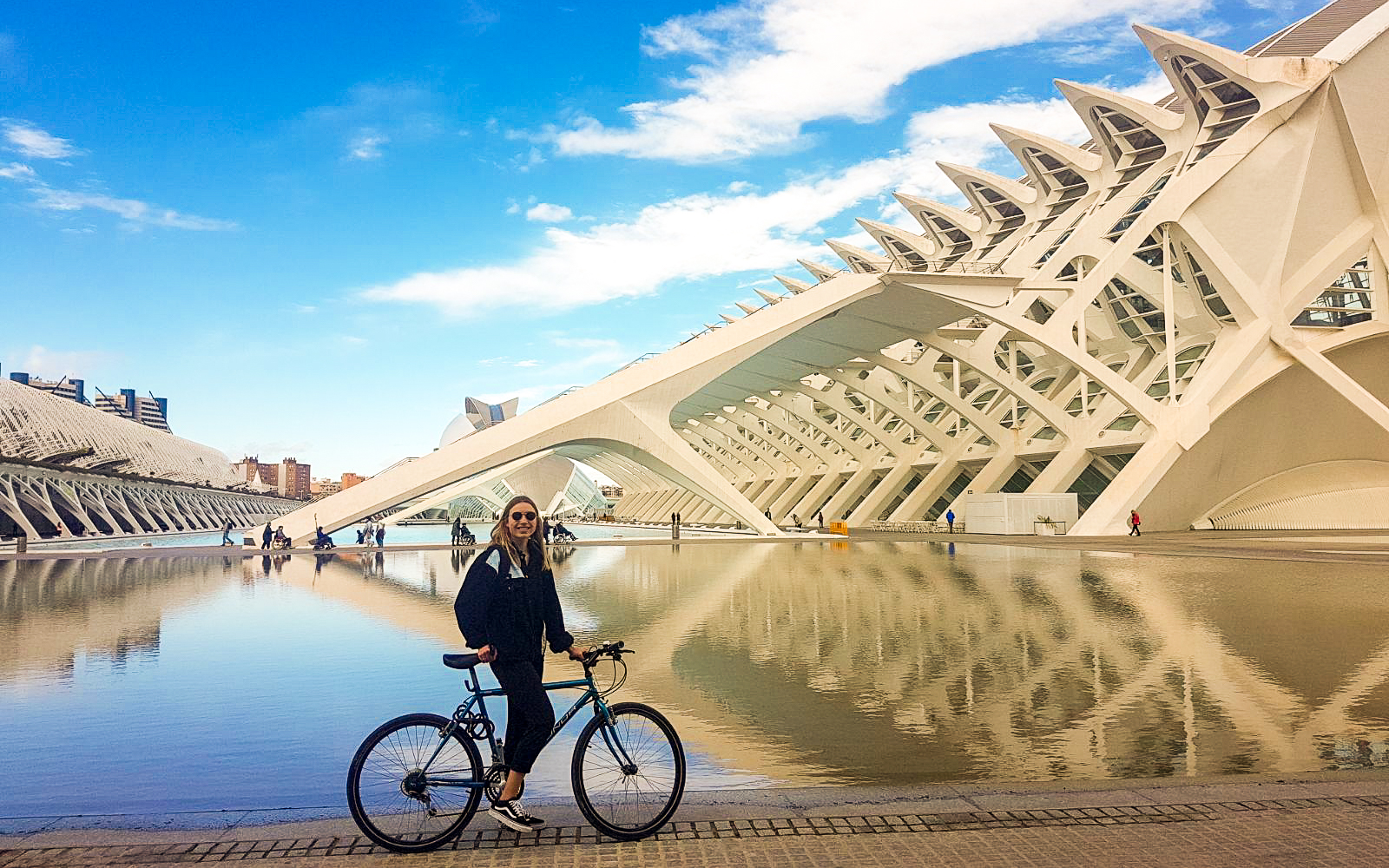 bike riding in the city of arts and sciences